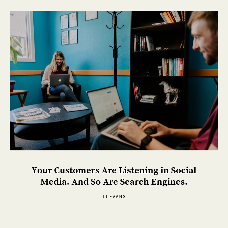 Your customers listen in social media. And search engines too. #web optimization #ok …