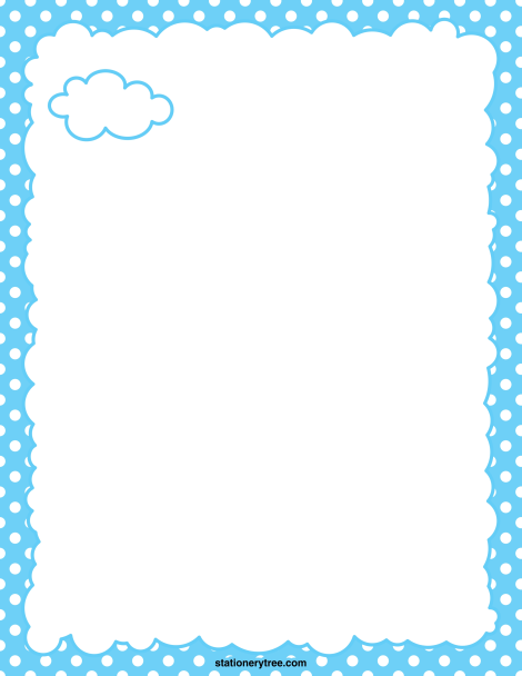 Free Cloud Stationery And Writing Paper Writing Paper Borders For Paper Printable Stationery
