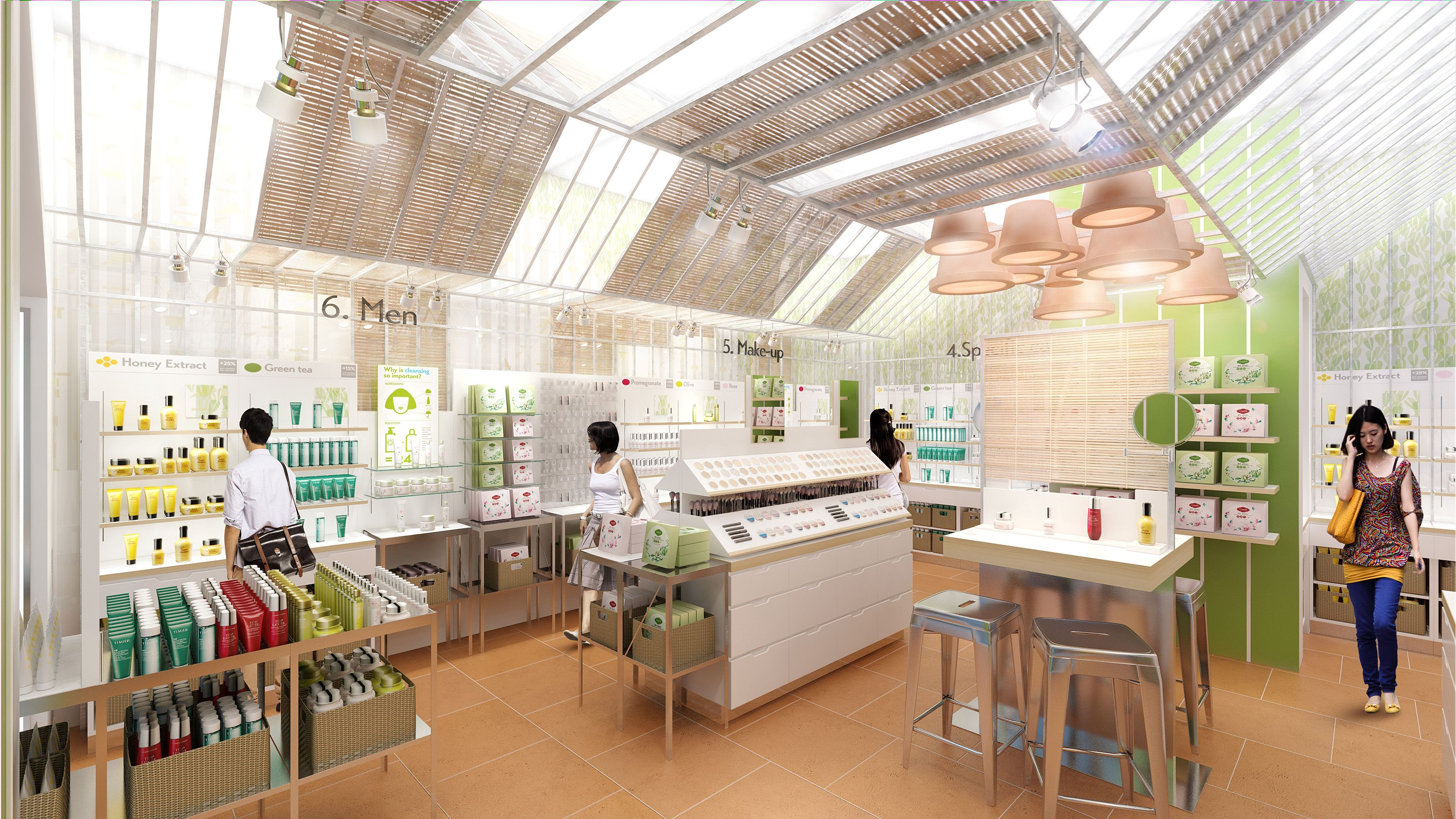 Timier House 2014 New Concept Of Cosmetics Store In Asia The Greenhouse Stories Design
