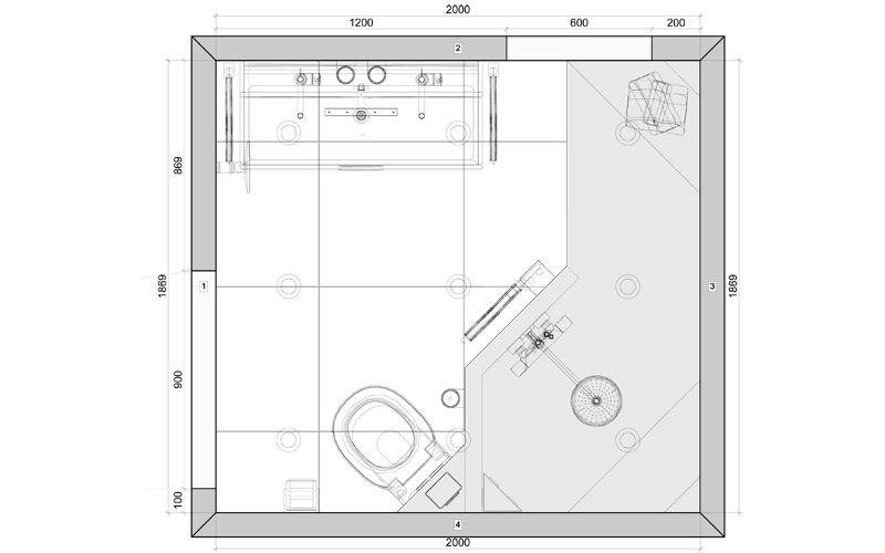 badkamer 06 plattegrond badkamer pinterest met