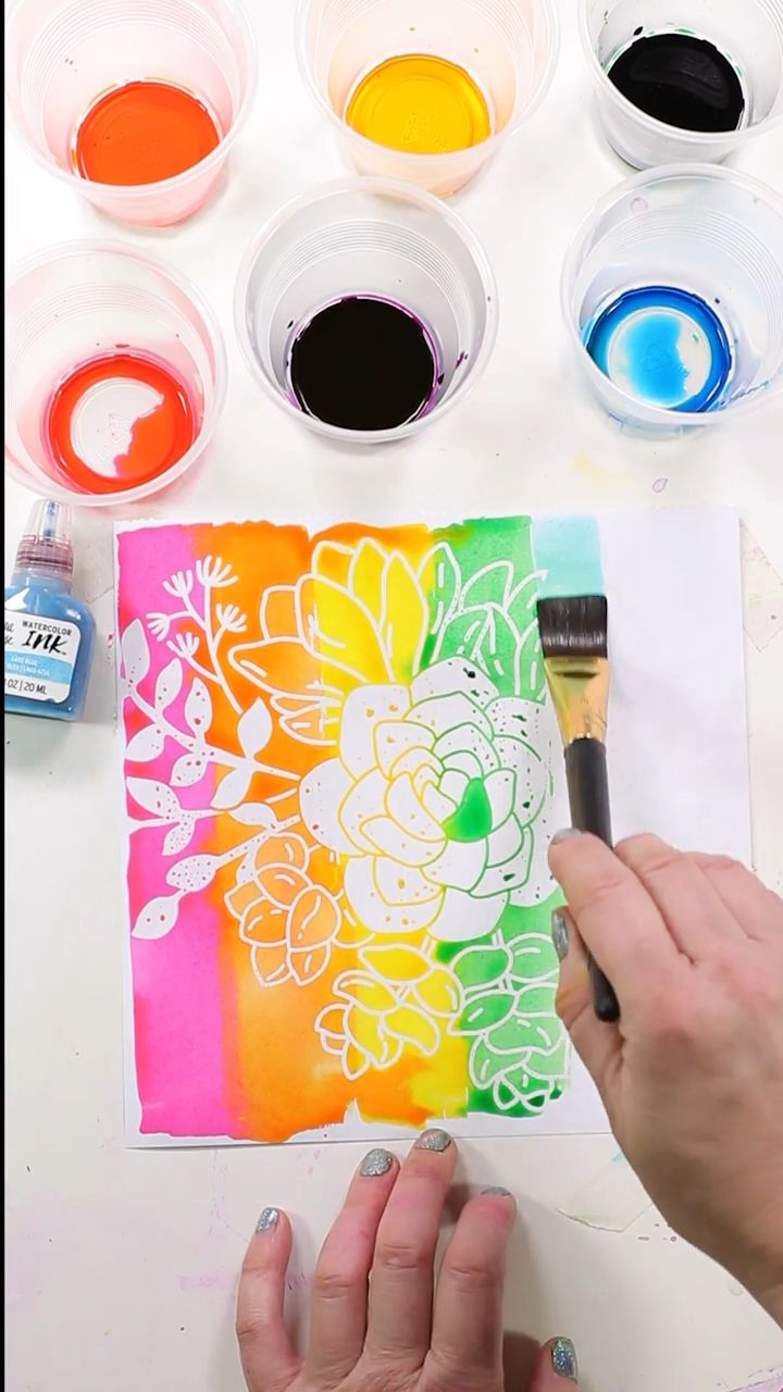 Watercolor Inks and Resist Pad Tutorial & Demo for