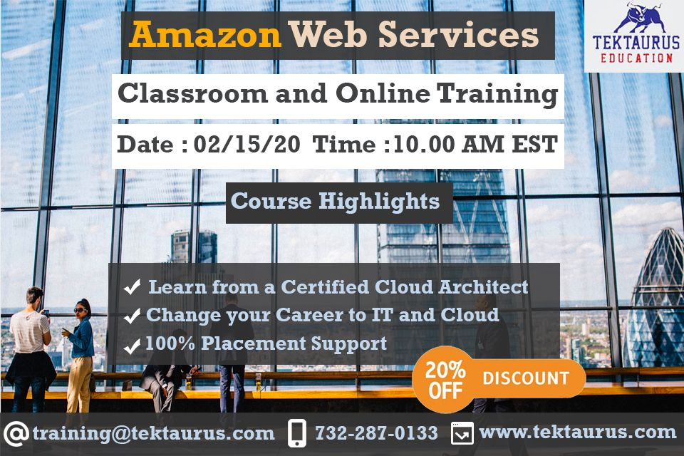 Amazon Web Services Training New Jersey (AWS) in 2020