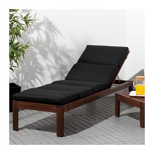 196 Pplar 214 Chaise Brown Stained Brown In 2019 Ikea Sun