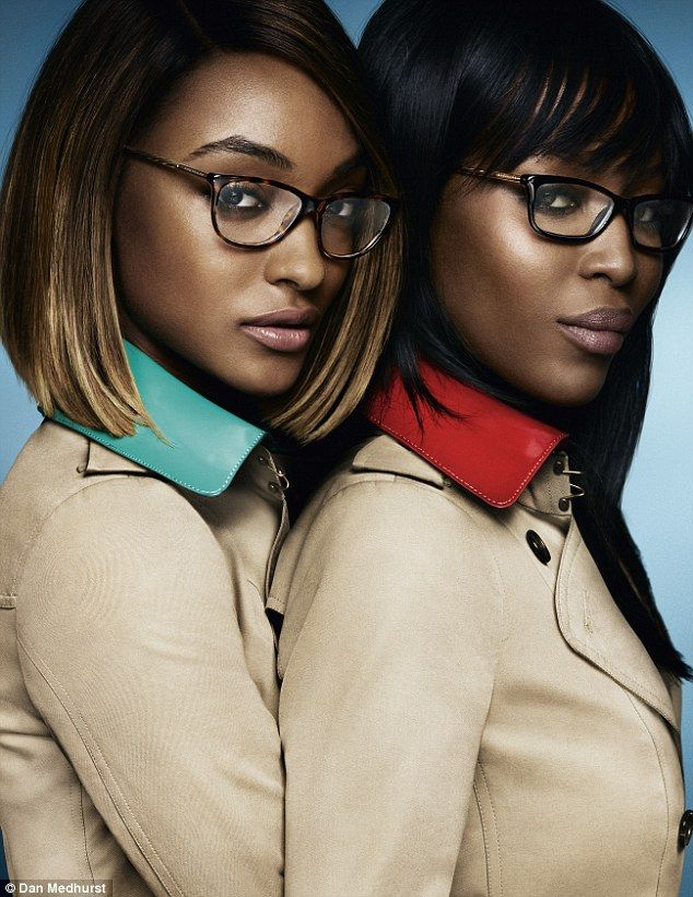 403010592a5 Jourdan Dunn and Naomi Campbell haved joined forces for Burberry s new eyewear  campaign.
