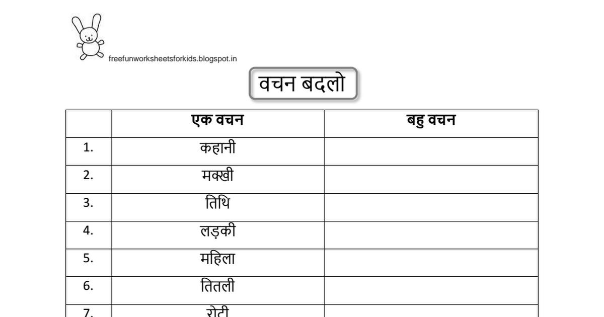 Niedlich Hindi Karak Arbeitsblatt Zeitgenössisch - Arbeitsblätter ...