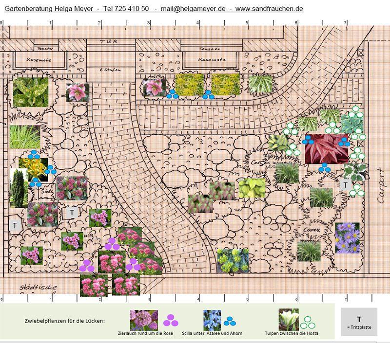 Gartenplanung Hamburg pflanzplan für einen vorgarten gartenplanung gartenberatung in