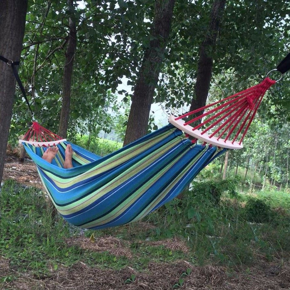 cheap camping hammock buy quality hanging chair directly from china hammock hammock suppliers  2 people outdoor canvas camping hammock bend wood stick     250 150cm 2 people outdoor canvas camping hammock bend wood stick      rh   pinterest