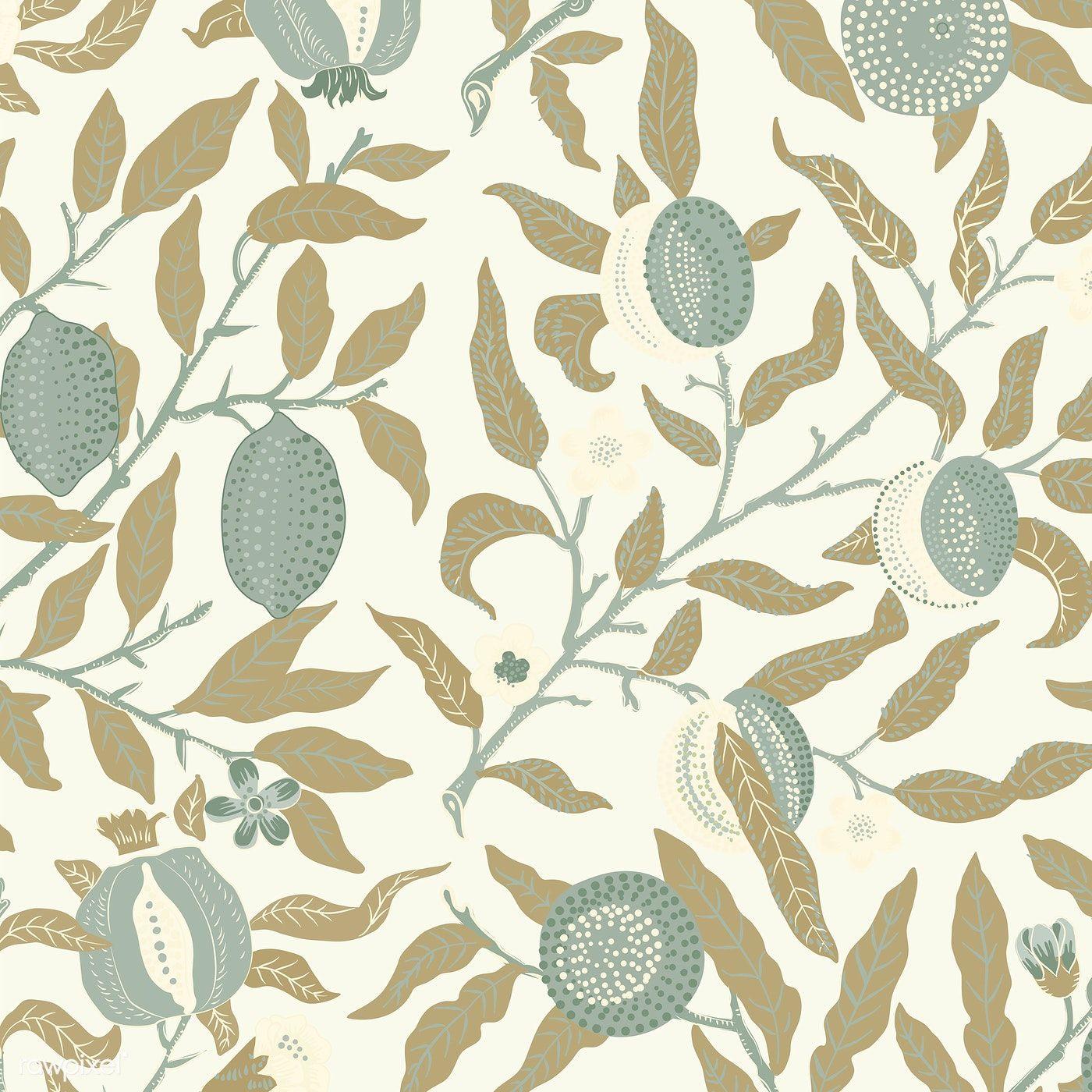 Download Premium Vector Of Vintage Illustration Of Fruit Or Pomegranate Vintage Illustration William Morris Patterns Illustration