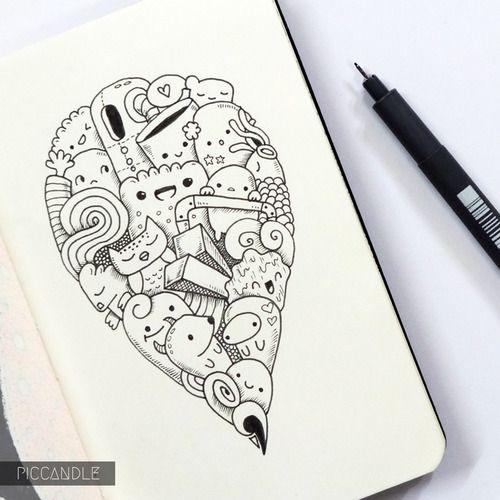 Moleskine Doodle Doodle Drawings Pic Candle Doodle Doodle Art