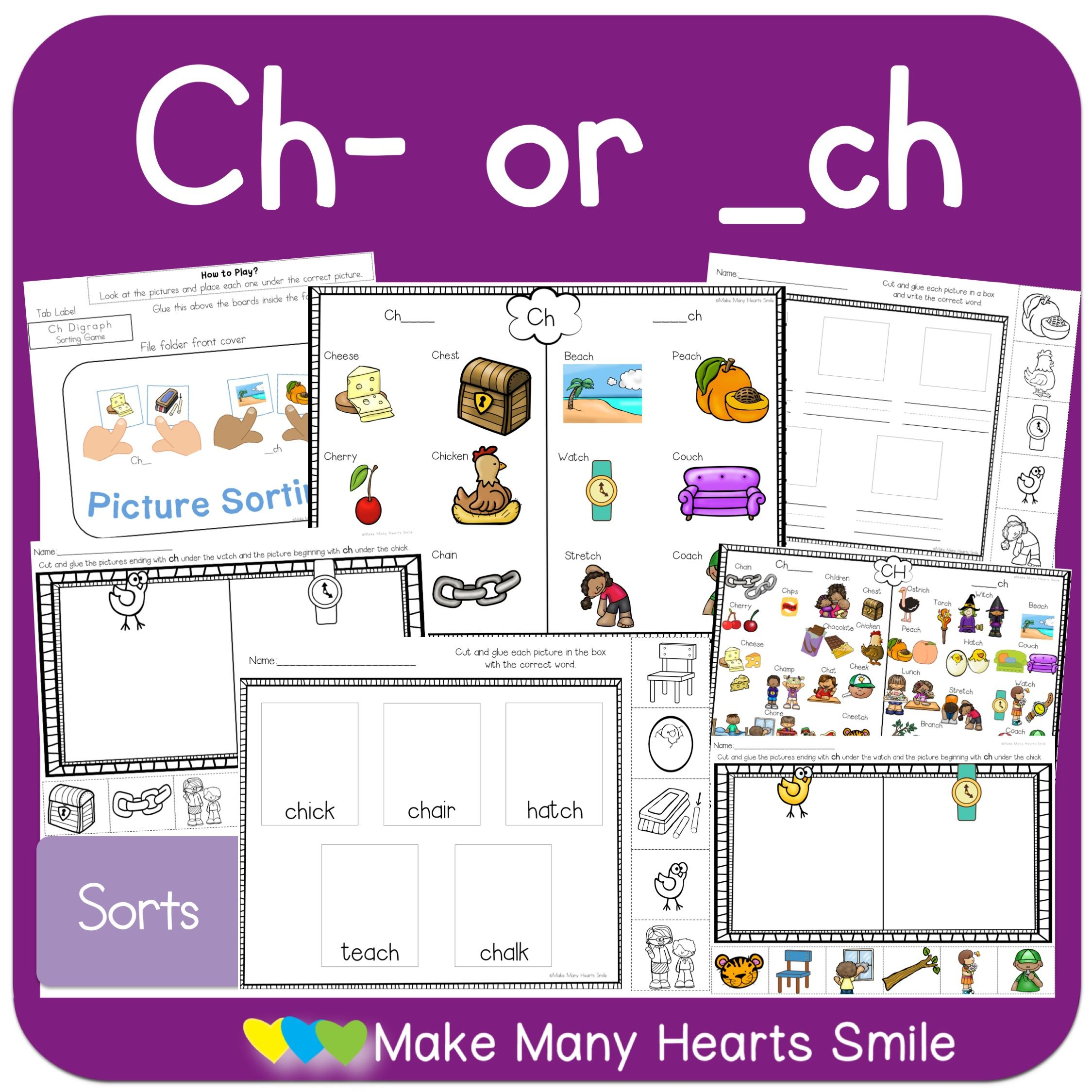 Ch Digraph Sorts Mhs33 In With Images