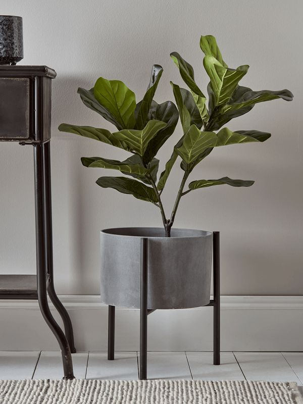 New Concrete Standing Planter New Indoor Living New This