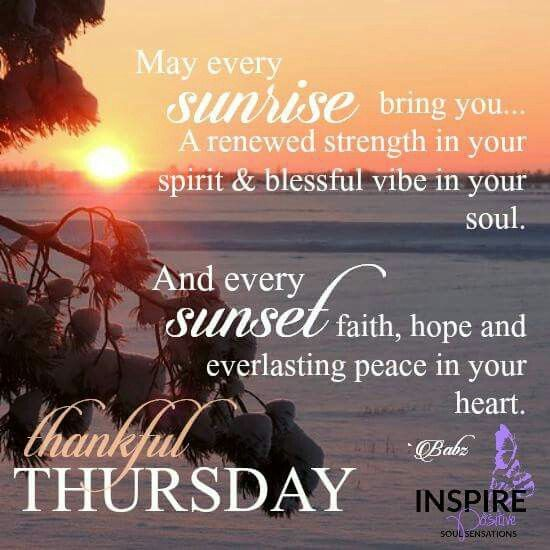 Good Morning Thursday Inspirational Quotes : Thankful thursday greetings pinterest