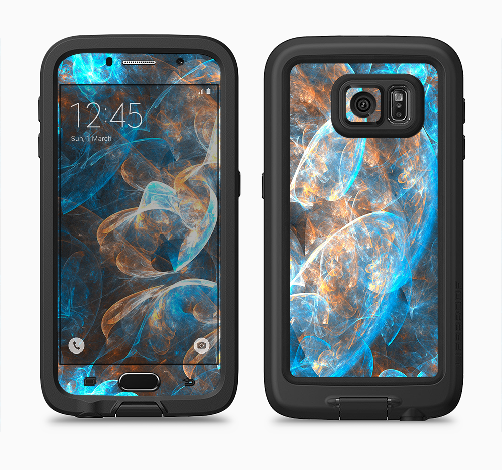 The Blue and Yellow Vivid Fumes Full Body Samsung Galaxy S6 LifeProof Fre Case Skin Kit