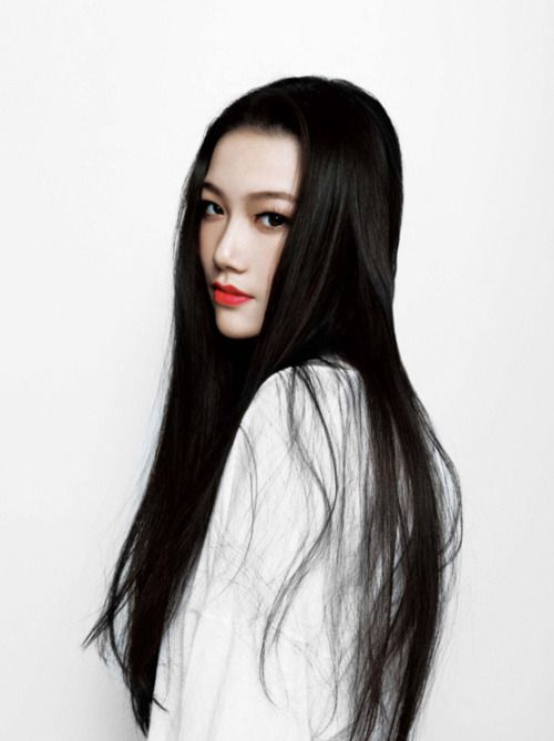 Asian girls long black hair
