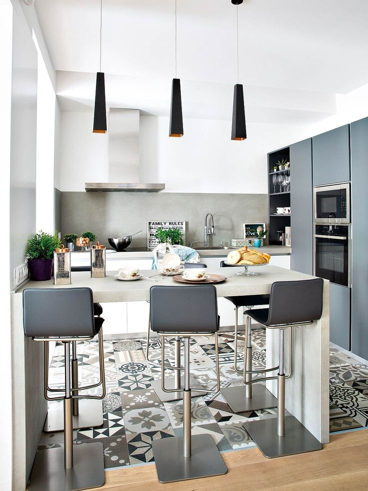 Sehr Belle #cuisine ouverte avec îlot façon bar ! #déco #décoration  HG23