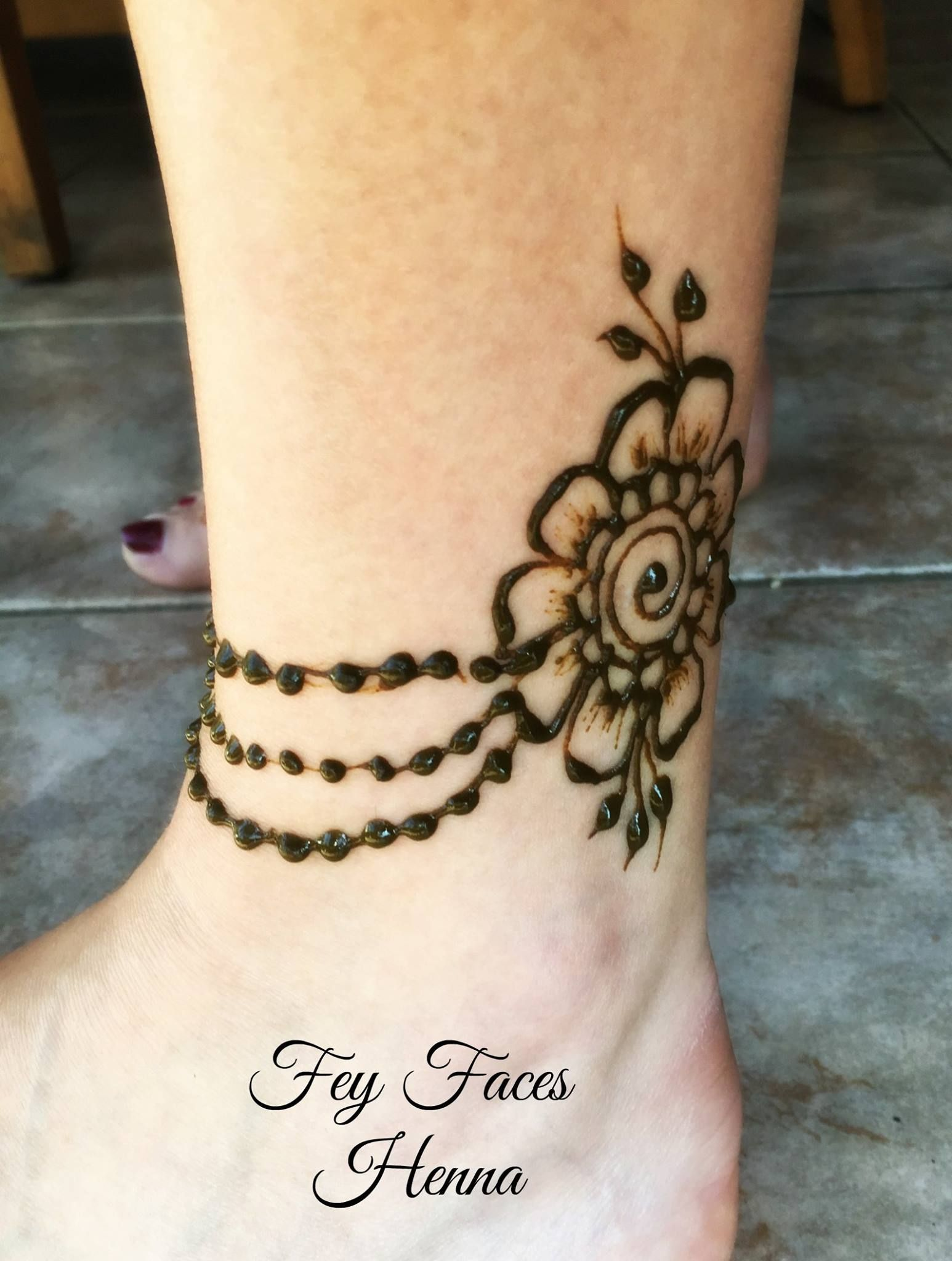 Henna Ankle Designs : henna, ankle, designs, Ankle, Henna, Design, Ankle,, Designs, Feet,, Tattoo