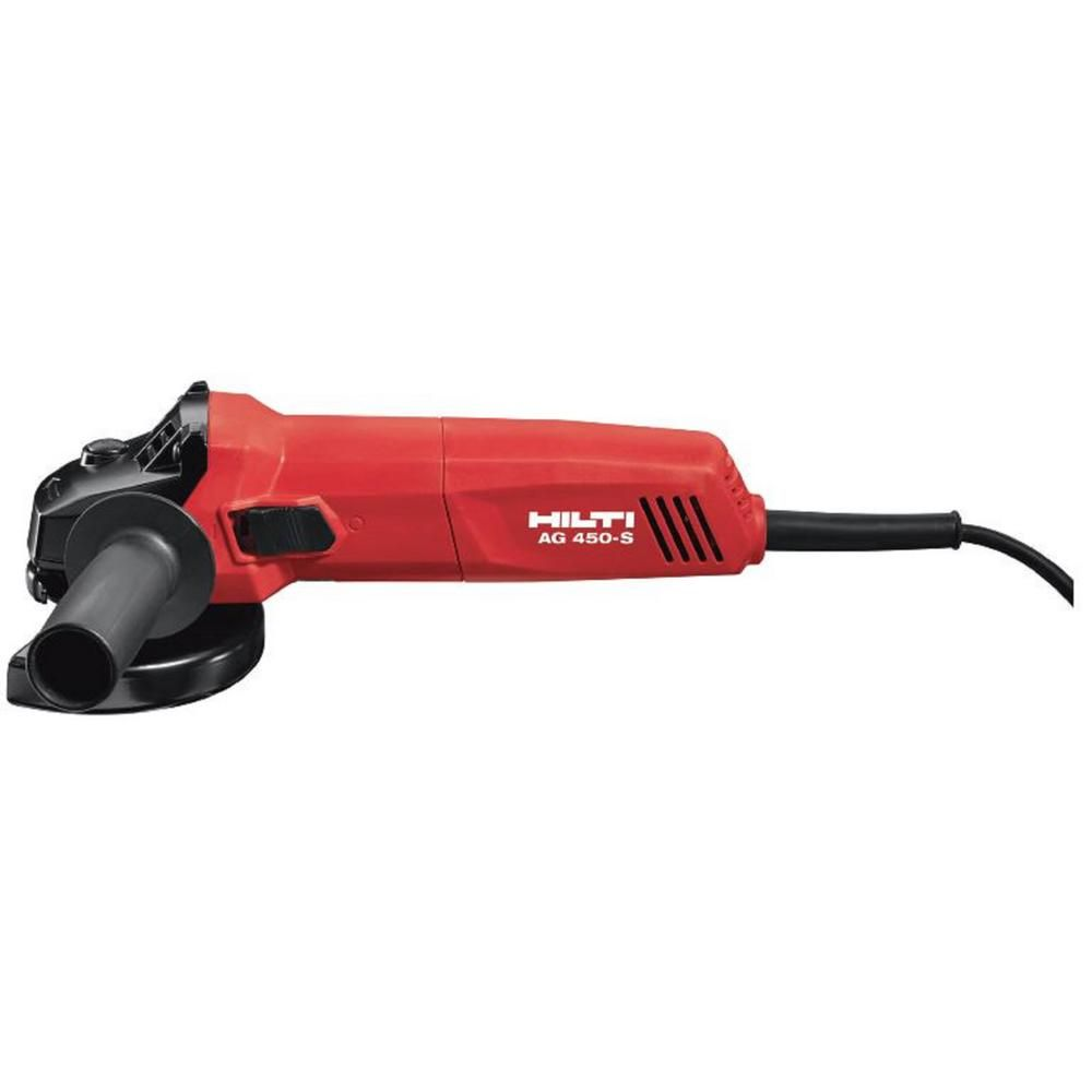 Hilti 7 Amp 120 Volt Corded 4 1 2 In Angle Grinder With Protective Cover 3554361 The Home Depot In 2021 Angle Grinder Grinder Home Depot