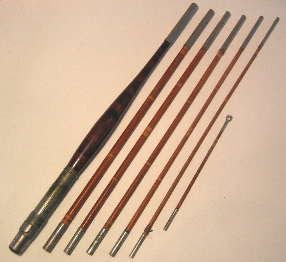 Antique 1890 S Wooden 7 Piece 10 Lancewood Pack Fly Rod Bamboo Fly Rod Antiques Fly Rods