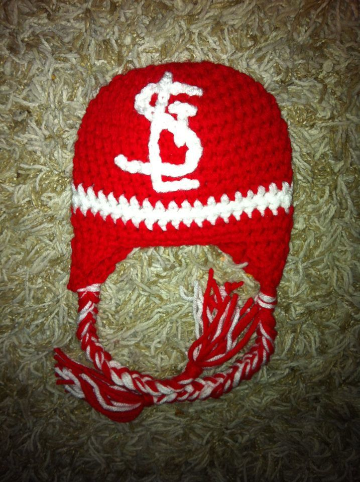 Ashley Masterson Stl St Louis Cardinals Inspired Crochet Ear Flap