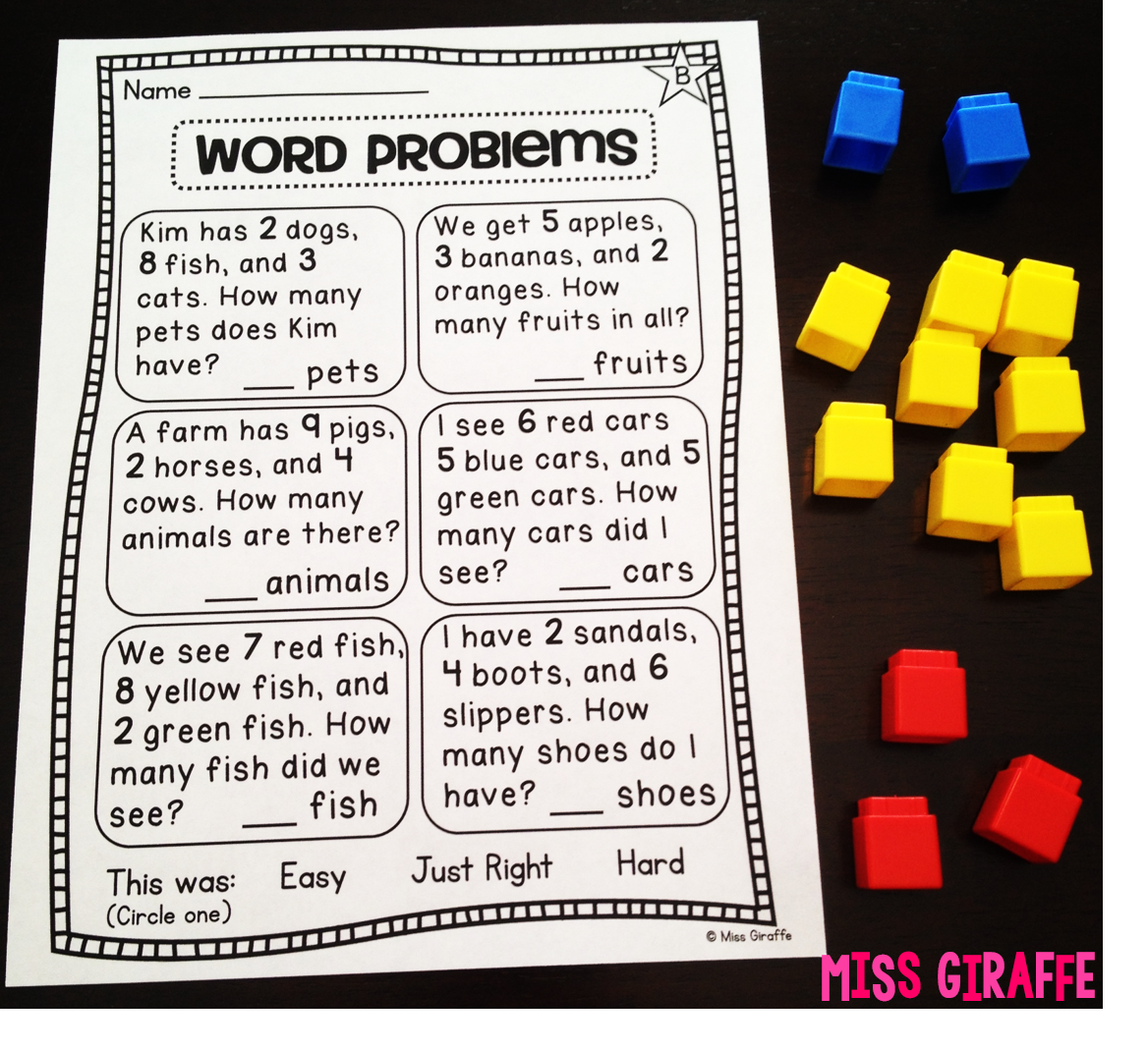 Adding 3 Numbers word problems that first grade kids can actually – First Grade Math Worksheets Word Problems