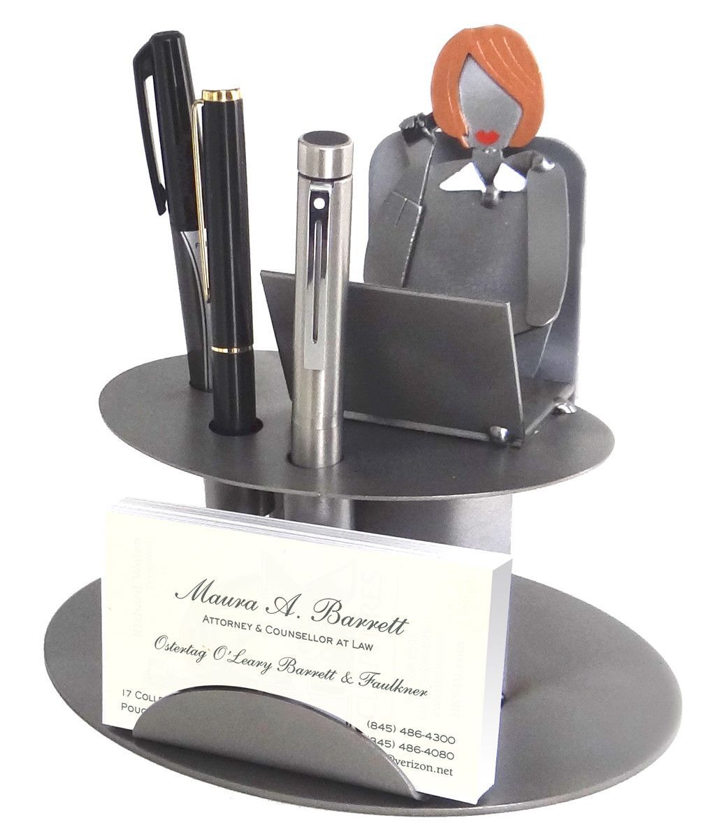 Desk Accessory Female Executive Business Card Holder | Products ...