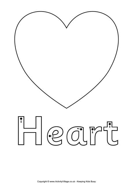 Finger tracing heart worksheet | Valentine's Day for Kids ...