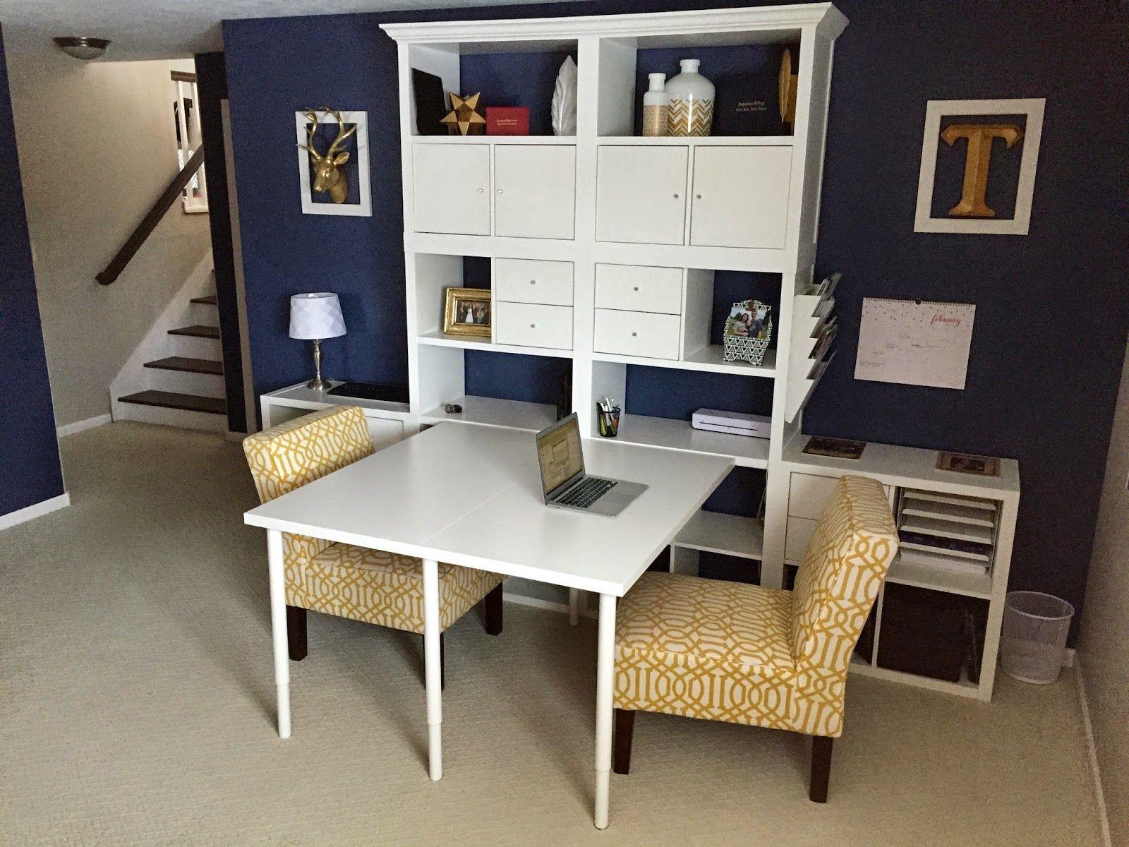 Image Result For Ikea Kallax Desk Attachment Hack Office