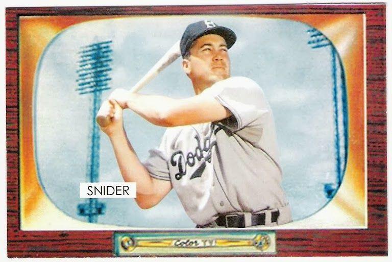 1955 Bowman Duke Snider Cards That Never Were Bowman Baseball