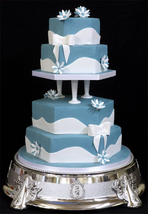 3 tier blue wedding cake blue tiered wedding cakes pictures tiered wedding cakes 10215