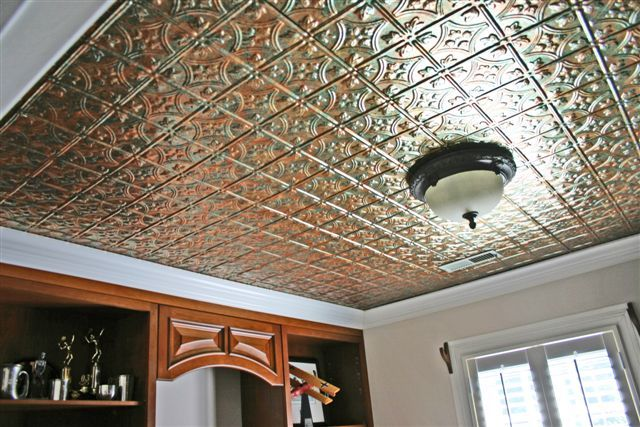 Mirroflex Savannah In Copper Fantasy Textured Faux Tin Ceilingtiles Interiordesign Decora Ceiling Tiles Decorative Ceiling Tile Faux Tin Ceiling Tiles