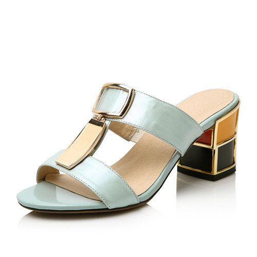 2014 Handmade women sandals slides full grain by LadiesShoes, $68.00