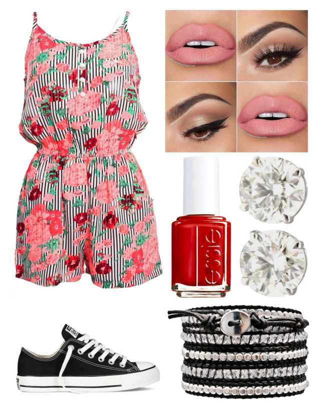"""""""Impossible"""" by emmmalaw ❤ liked on Polyvore featuring Dolce Vita, Converse and Essie"""