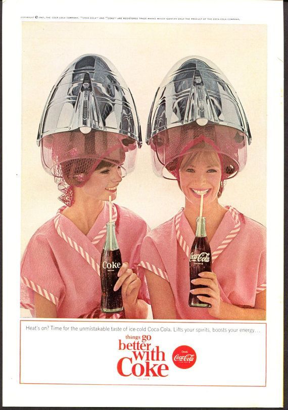 1960s Coke Ads | Coke Beauty Salon Theme Vintage Ad - 1960s | I ...