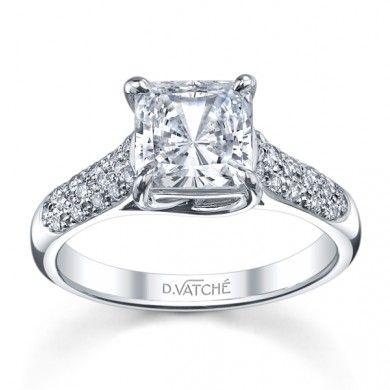14K White Gold Vatche Pave X Prong Diamond Setting