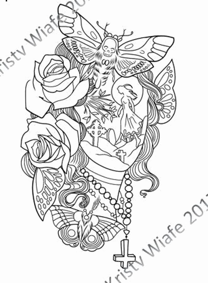 Halloween Scene Coloring Pages Inspirational Single Pdf Coloring Page Face With Grav Tattoo Coloring Book Coloring Pages Inspirational Halloween Coloring Pages