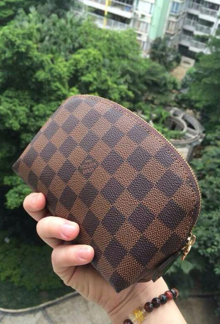66164084f041 Louis Vuitton Damier Ebene Cosmetic Pouch N47516 Sales at USD 114. Free  Global Shipping.