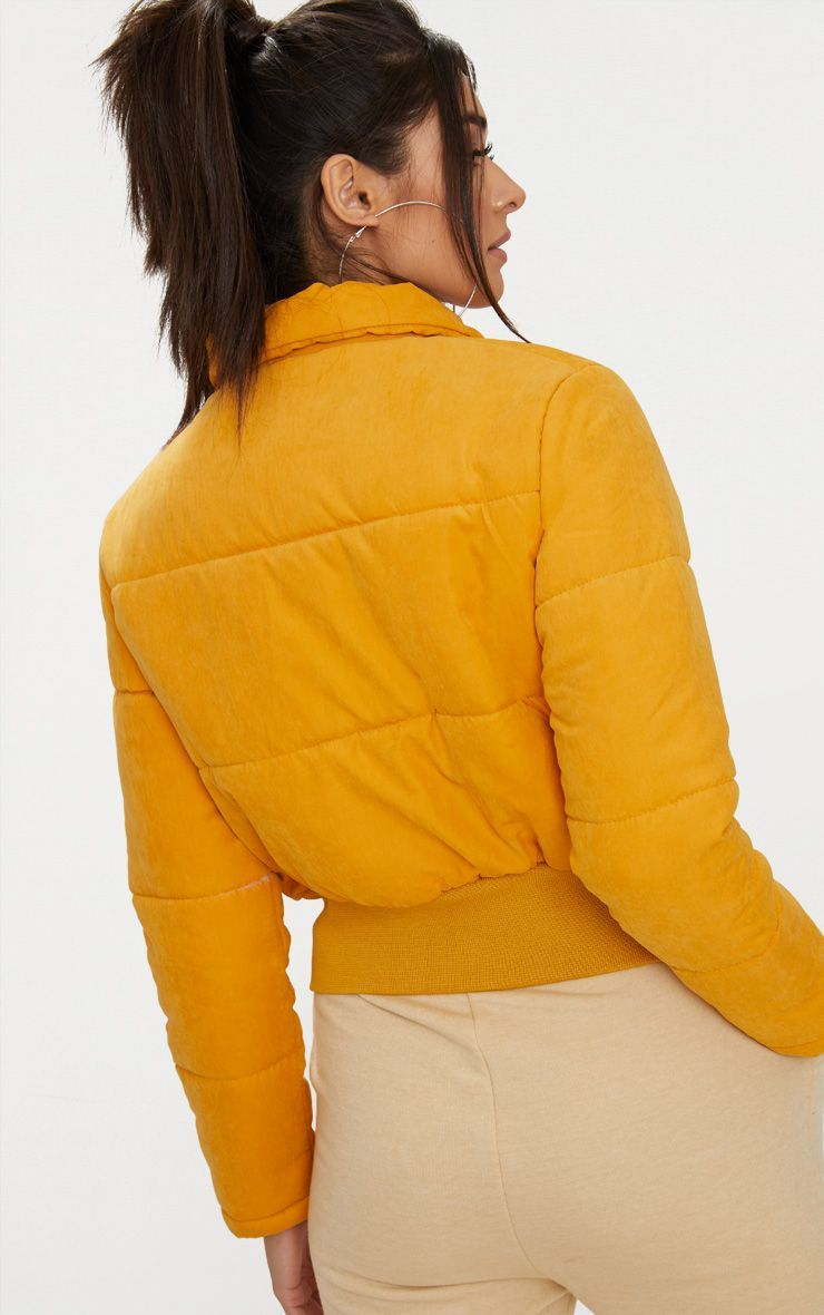 Mustard Peach Skin Cropped Puffer Jacket Mustard Puffer Jacket Cropped Puffer Jacket Puffer Jackets [ 1180 x 740 Pixel ]
