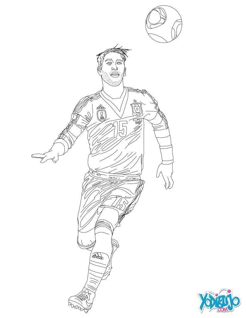 Sergio Ramos Para Colorear Sergio Ramos Messi Dibujo Dibujos De Futbol