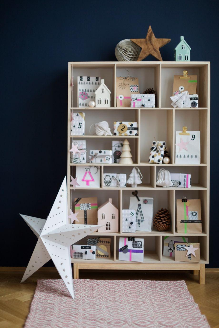 Diy adventskalender idee home christmas pinterest calendrier de avent et calendrier - Wiener wohnsinn ...