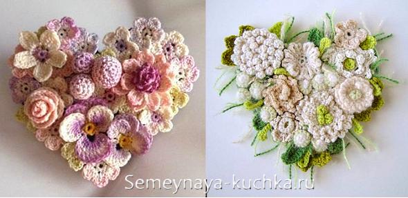 вязание цветов крючком 48 фото схемы и уроки цветыразные