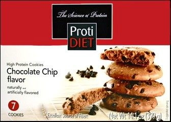 Bariatric Diet Supplements Protidiet Chocolate Chip Cookie 7 Servings Box 10 99 High Protein Cookies Protein Cookies Chocolate Protein Cookies