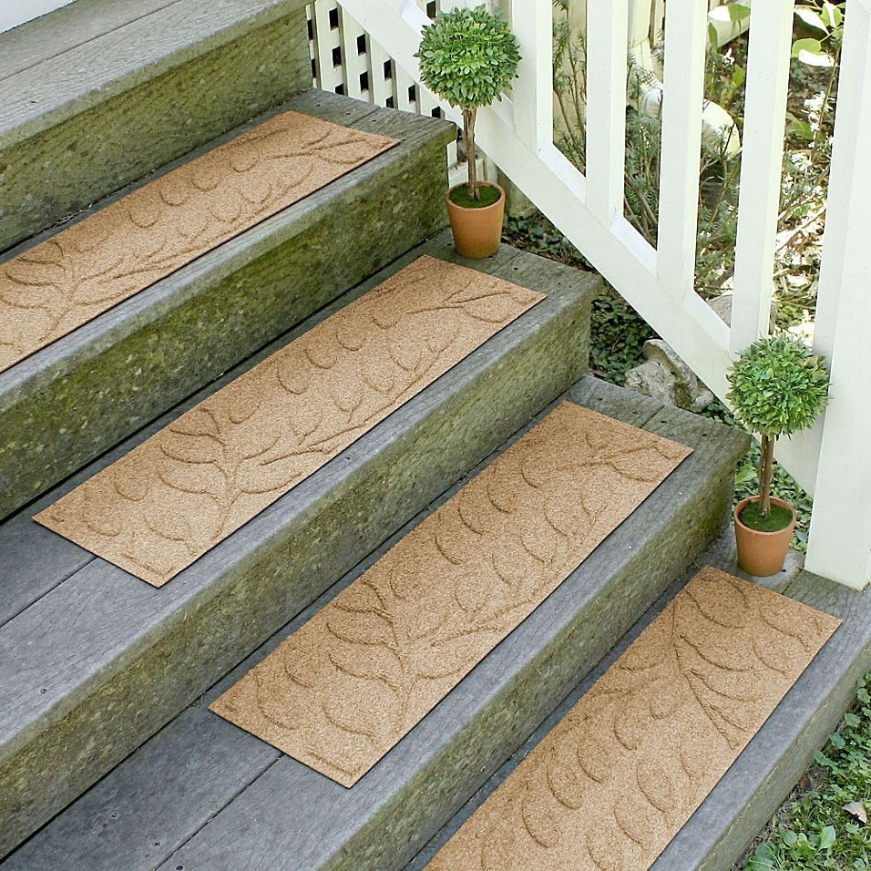 Best Weather Guard Brittney Leaf 8 5 X 30 Stair Treads In 640 x 480