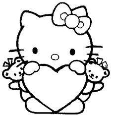 Ausmalbilder Hello Kitty Herz Arbeit
