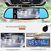 junsun 7″ GPS Navigation Mirror Bluetooth Touch Special for Ford Android 16GB Car DVR Dual Lens Camera Rear WiFi FM Transmit