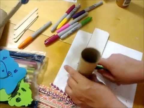 Reutilizando los Rollos de Papel / Lapicero para tu escritorio - YouTube