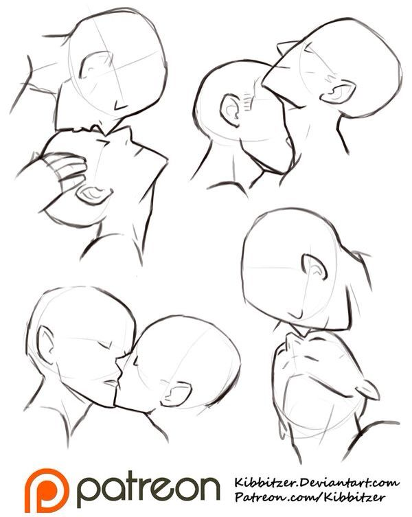 How To Draw Kisses : kisses, Kissing, Anime, Howto, Techno