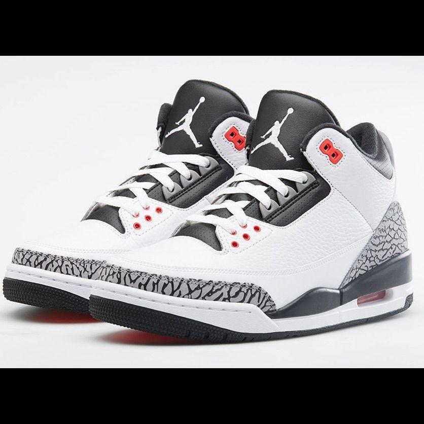 low priced fa759 8b3fa Jordan Shoes | Air Jordan 3s | Color: Red/White | Size: 6 ...