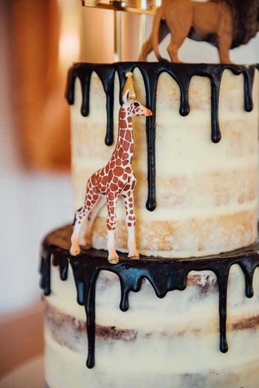 Michaels First Birthday Animal Theme Giraffe Drip Cake Kids
