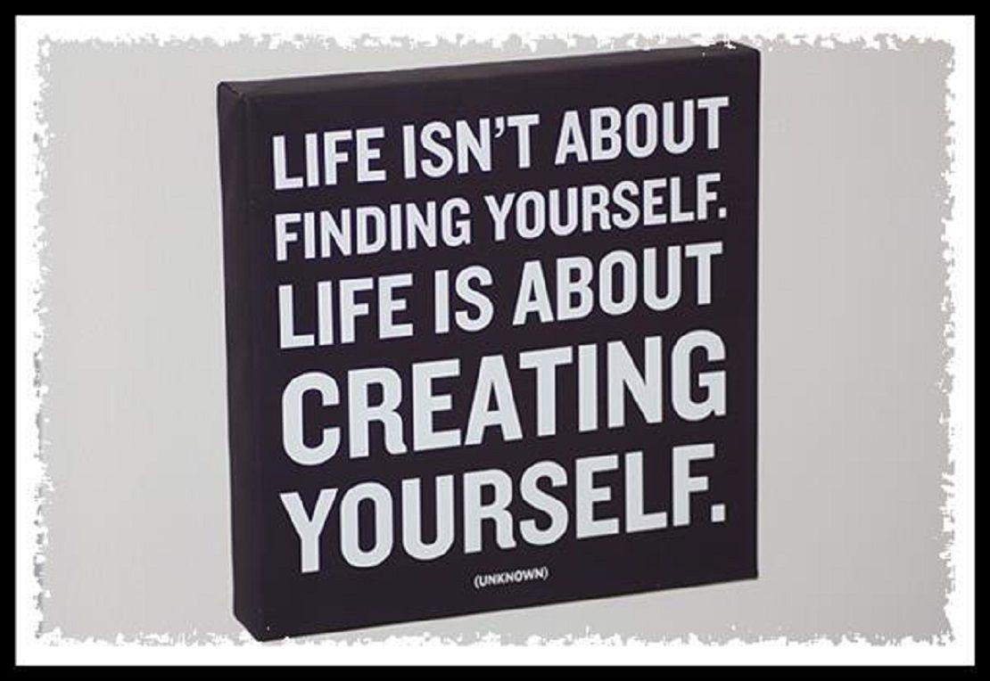 Creating oneself