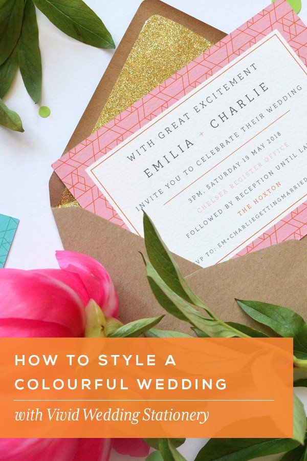 How to style a colourful wedding Vivid Sample Pack   Colourful ...